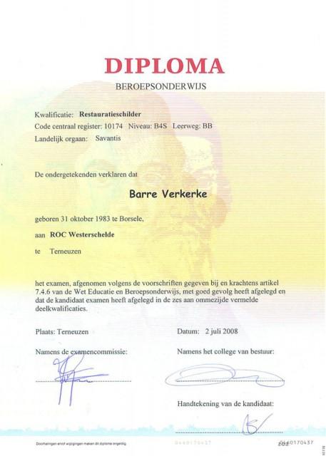 13 - diploma restauratie