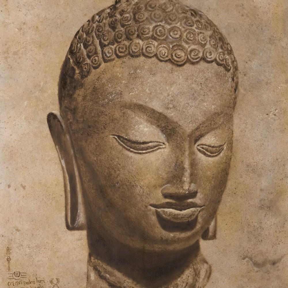Buddha op Natuursteen