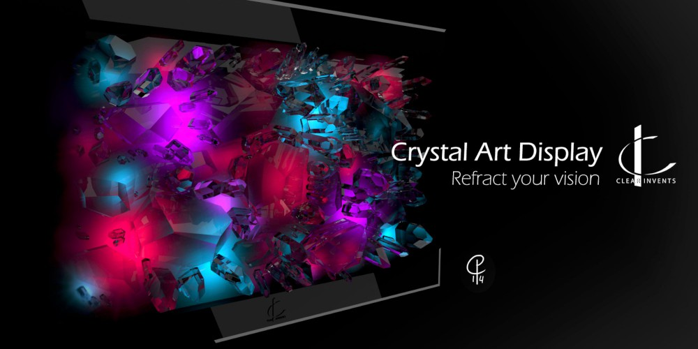Promotional Image of Crystal Art Display, a project by Christian Pouwer &  Barre Verkerke (Clear Invents).